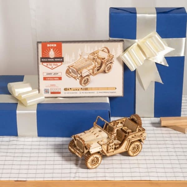 Hb5884cd0eeff4fc882a79e8b8fdd0ae4a 600x600Army Field Car DIY Scale Model Vehicle