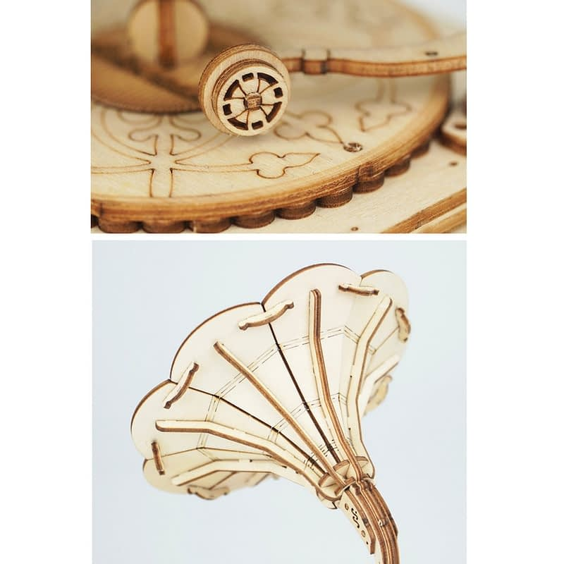 gramophone modern 3d wooden puzzle 2