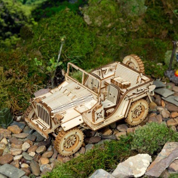 H96aeddd25234449a961ade1600ea7a96g 600x600Army Field Car DIY Scale Model Vehicle
