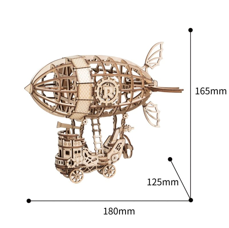 airship modern 3d wooden puzzle 5