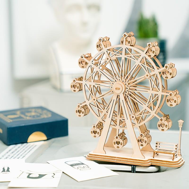 ferris wheel modern 3d wooden puzzle 3