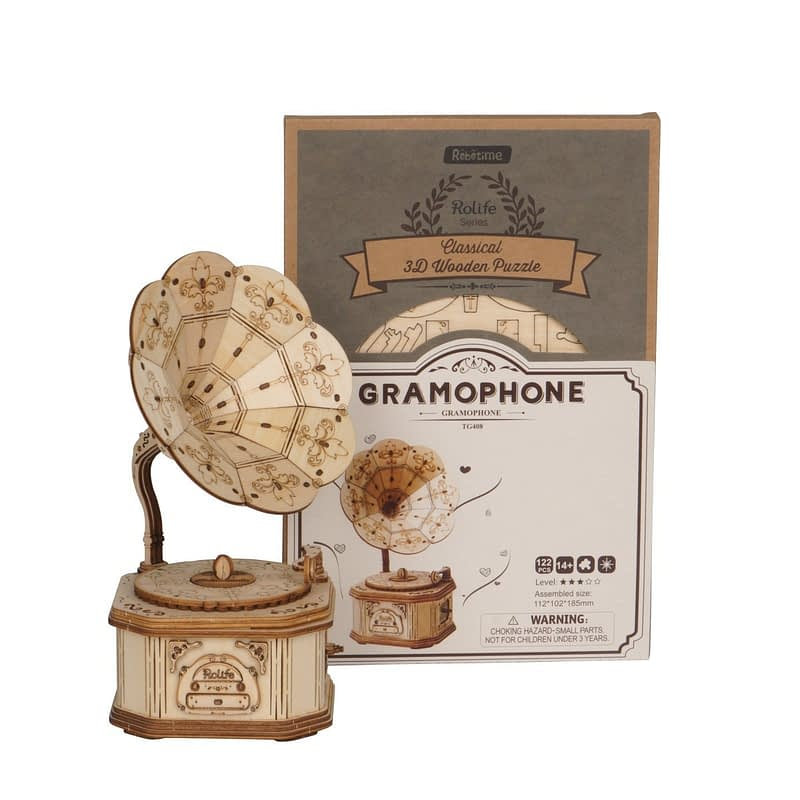 gramophone modern 3d wooden puzzle 7