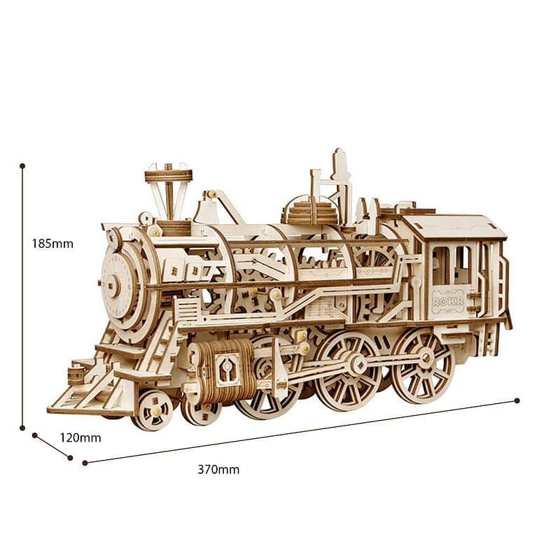 robotime locomotive movement assembled diy mechanical model 9