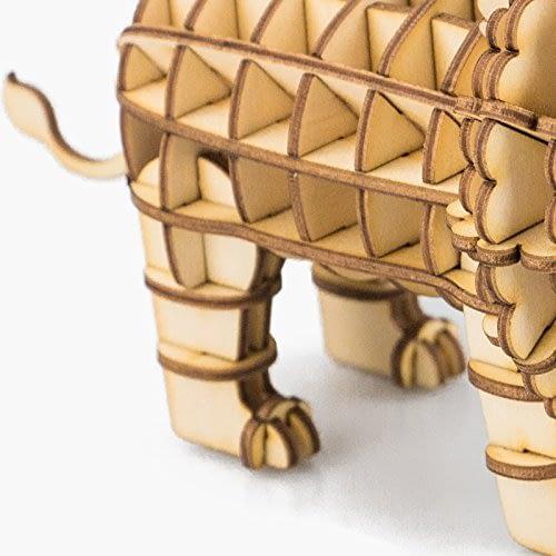 lion modern 3d wooden puzzle 2
