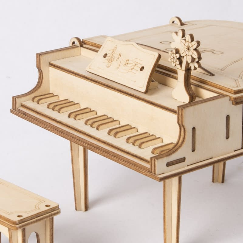 grand piano modern 3d wooden puzzle 2