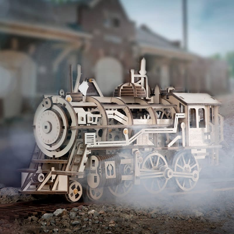 robotime locomotive movement assembled diy mechanical model 5
