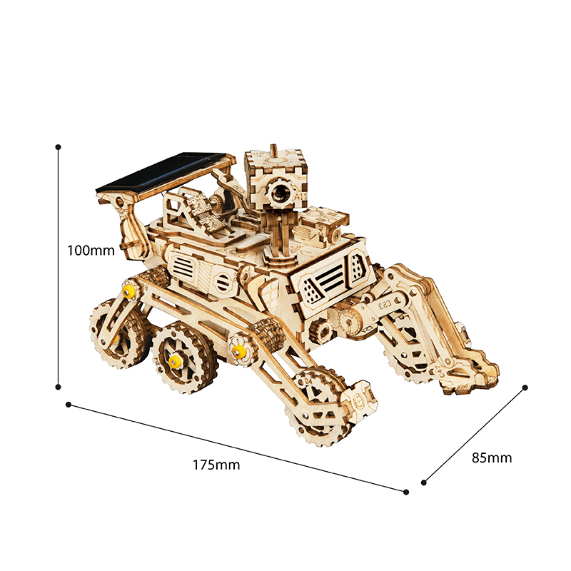 harbinger rover 3d wooden puzzle movement assembled solar energy powered toys space hunting 2