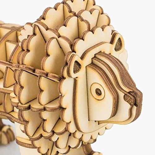 lion modern 3d wooden puzzle