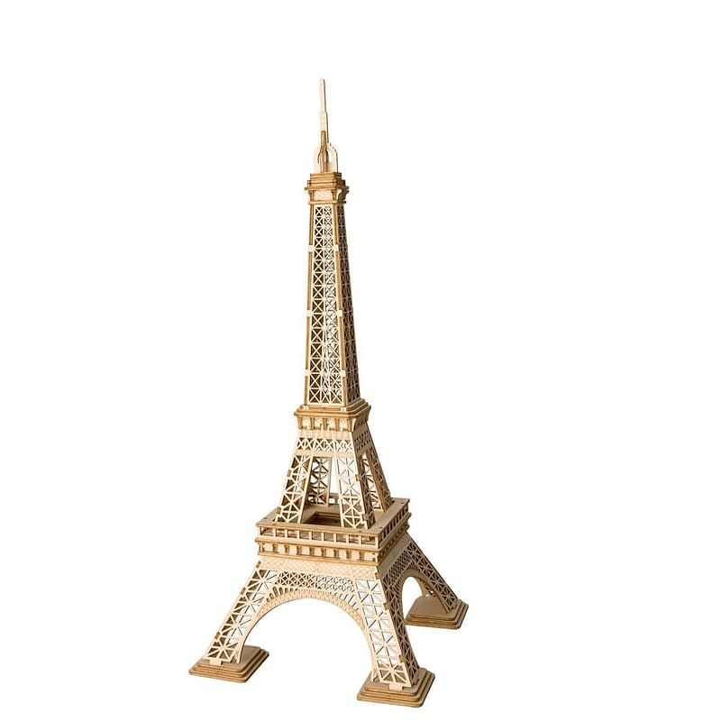 eiffel tower modern 3d wooden puzzle