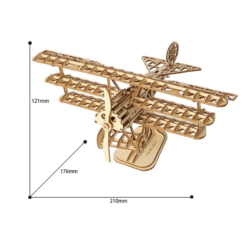 bi plane modern 3d wooden puzzle 6