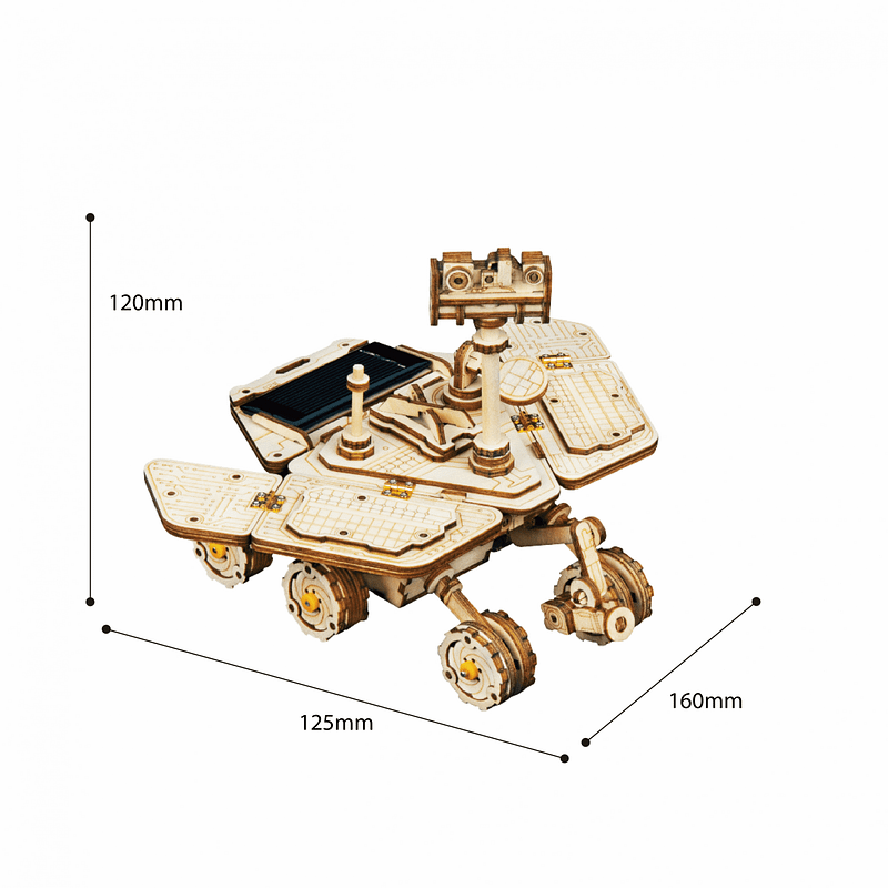 vagabond rover 3d wooden puzzle movement assembled solar energy powered toys space hunting 2