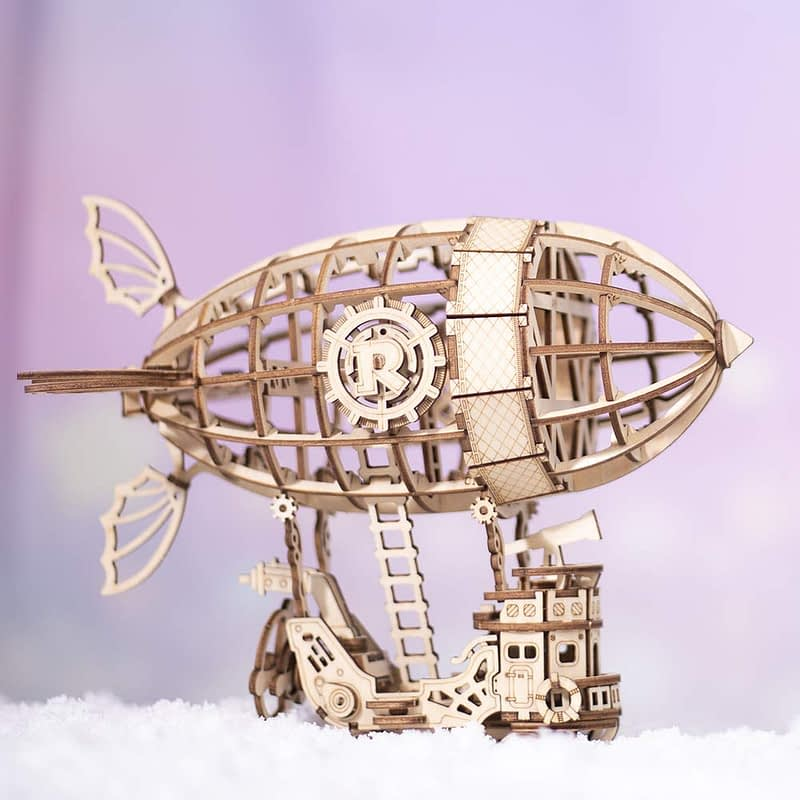 airship modern 3d wooden puzzle 4