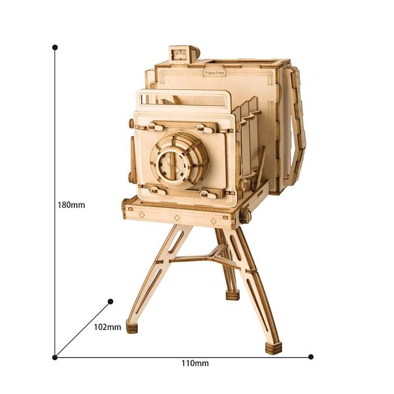 vintage camera modern 3d wooden puzzle 6