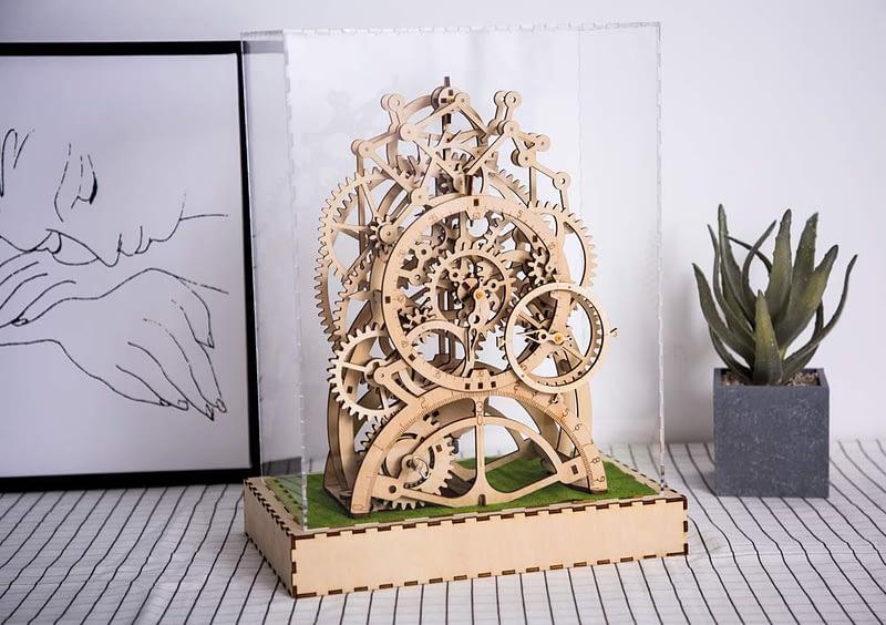 robotime pendulum clock movement assembled diy mechanical model