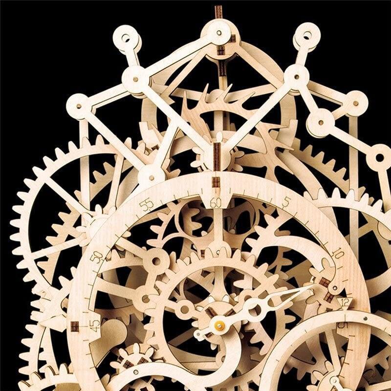 3 35 24CM Rear Clock Craft 3D Wooden Puzzle Toy DIY LK501 Constant Pendulum Assembly Craft Set