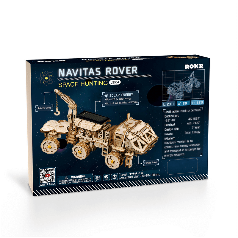 navitas rover 3d wooden puzzle movement assembled solar energy powered toys space hunting 3