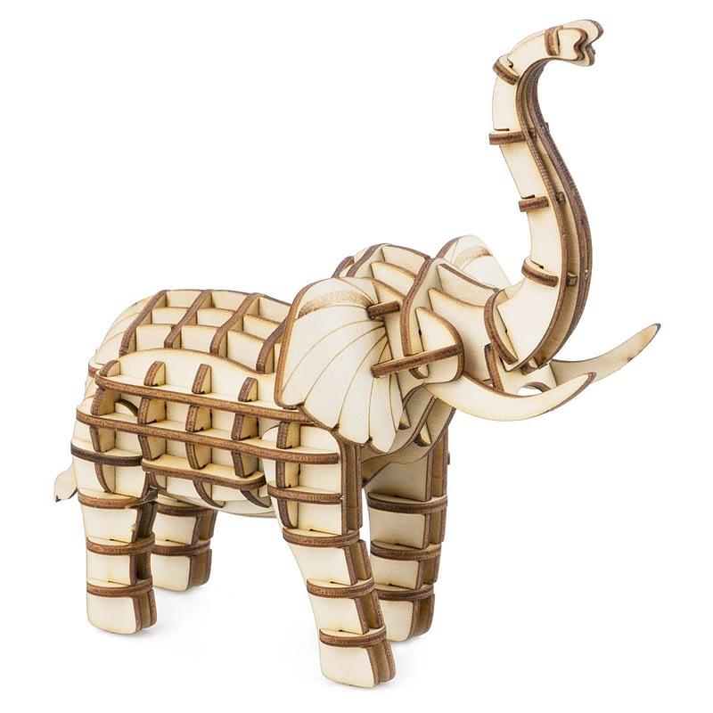 elephant modern 3d wooden puzzle 3