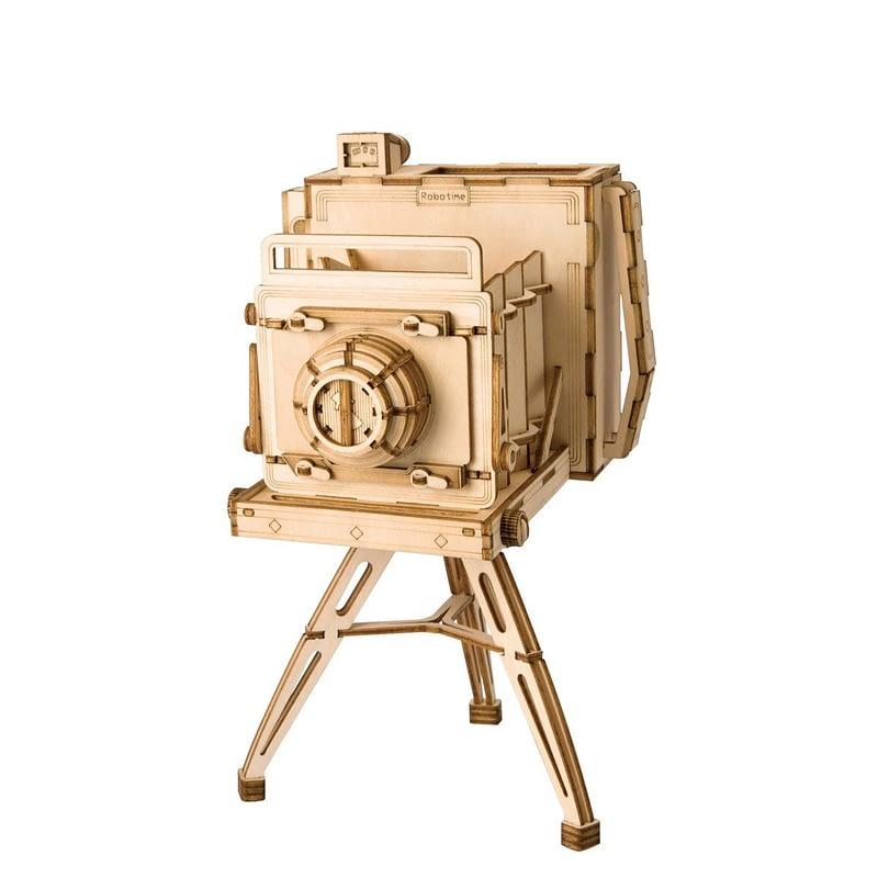 vintage camera modern 3d wooden puzzle
