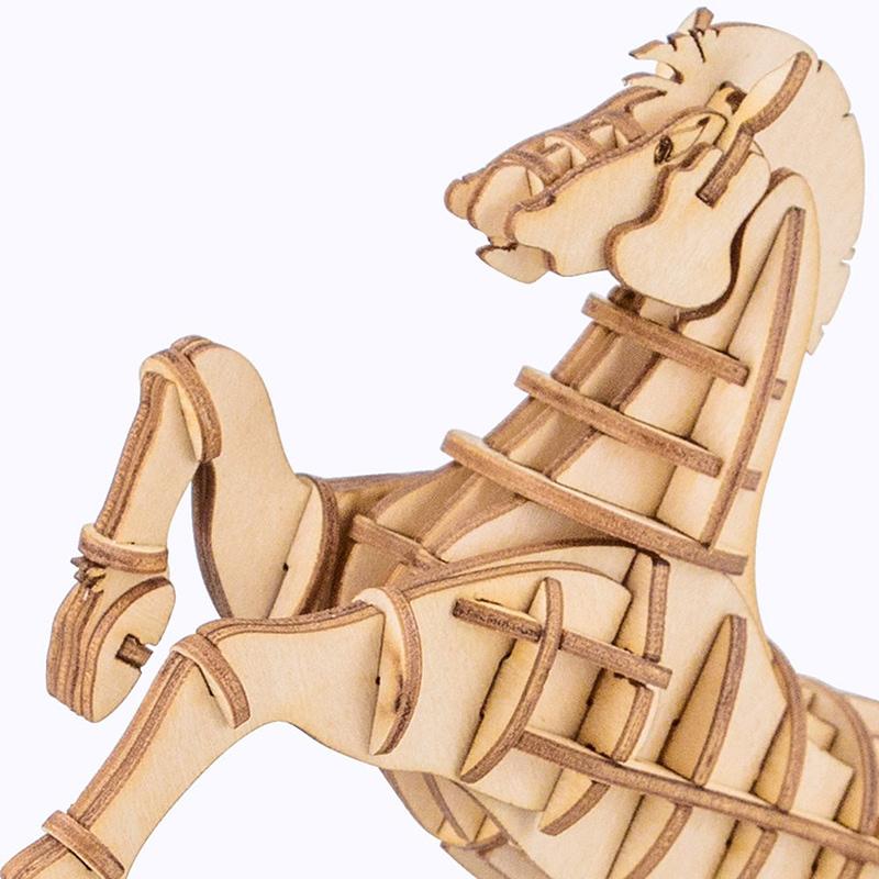 horse modern 3d wooden puzzle farm animals 3