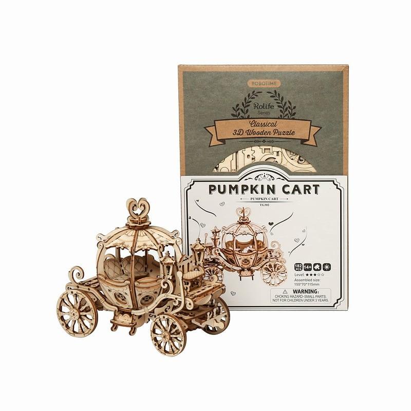 pumpkin cart modern 3d wooden puzzle 5