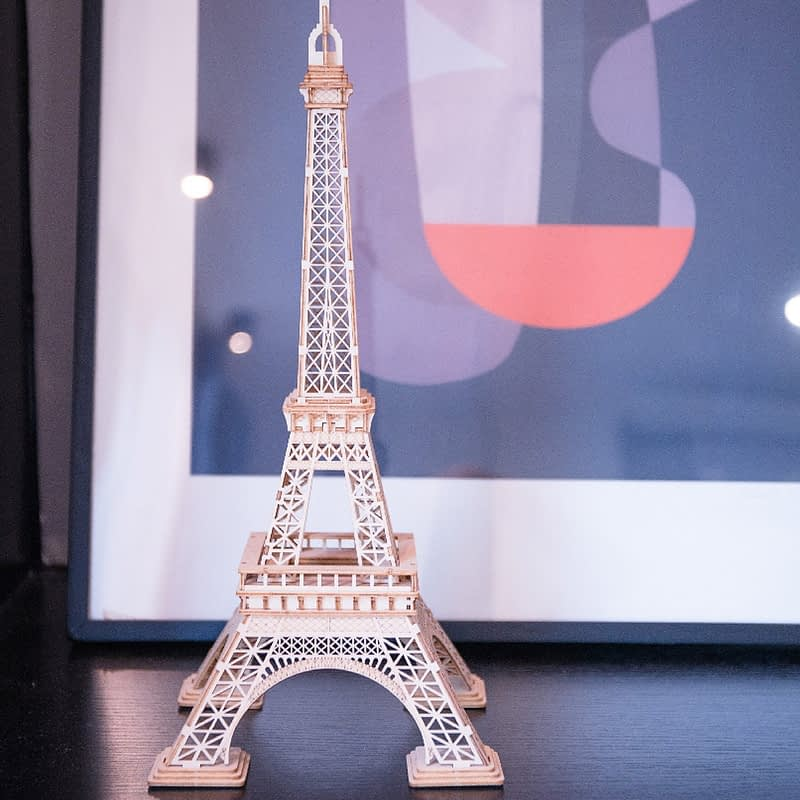 eiffel tower modern 3d wooden puzzle 6