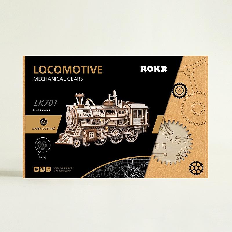 robotime locomotive movement assembled diy mechanical model 11