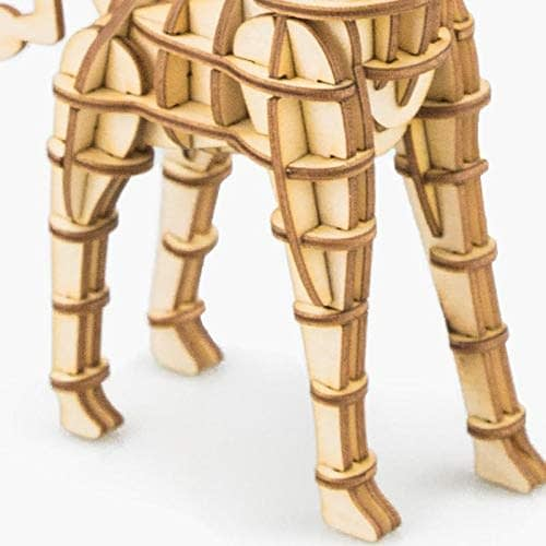 giraffe modern 3d wooden puzzle wild animals 4