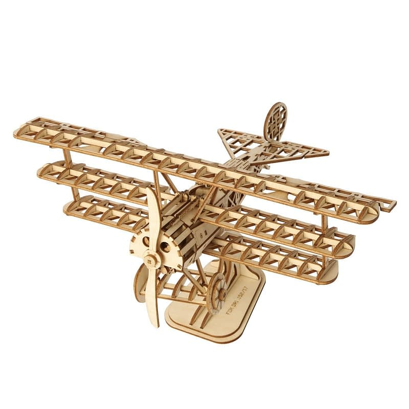 bi plane modern 3d wooden puzzle