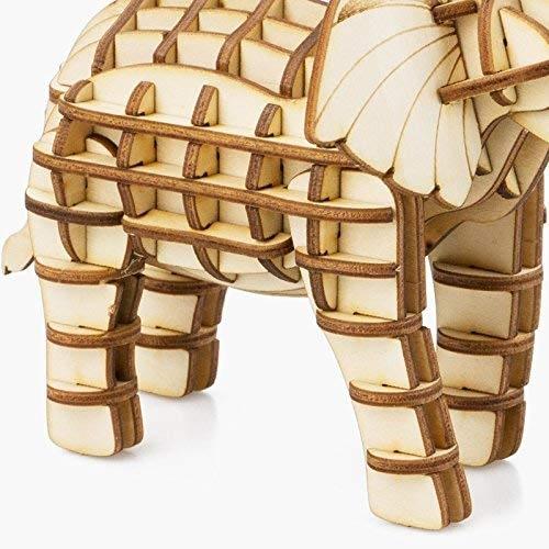 elephant modern 3d wooden puzzle 2