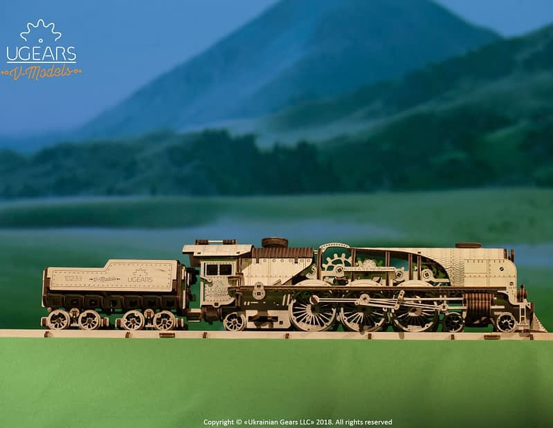 09. Ugears V Express Steam Train with Tender