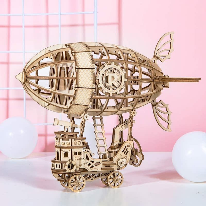 airship modern 3d wooden puzzle 3