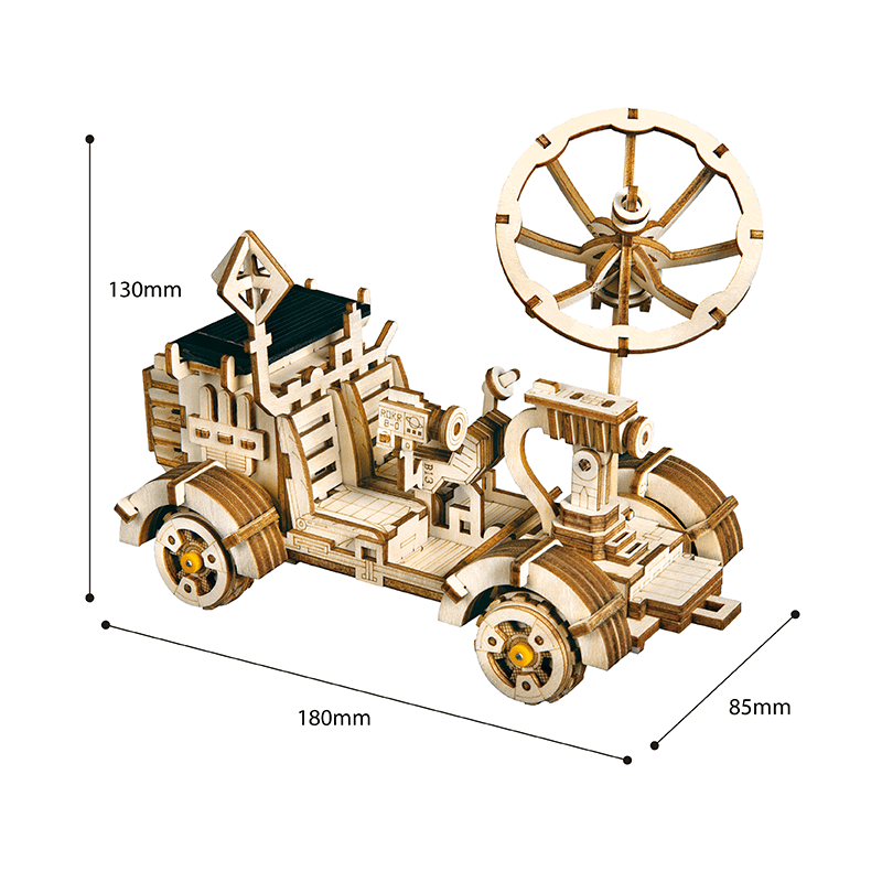 rambler rover 3d wooden puzzle movement assembled solar energy powered toys space hunting 2