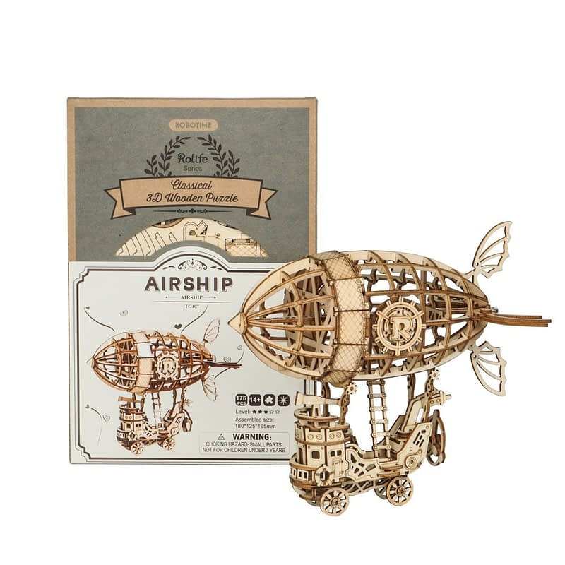 airship modern 3d wooden puzzle 7