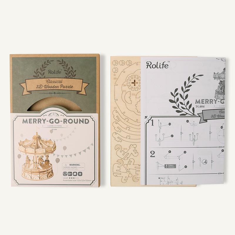 merry go round modern 3d wooden puzzle 4