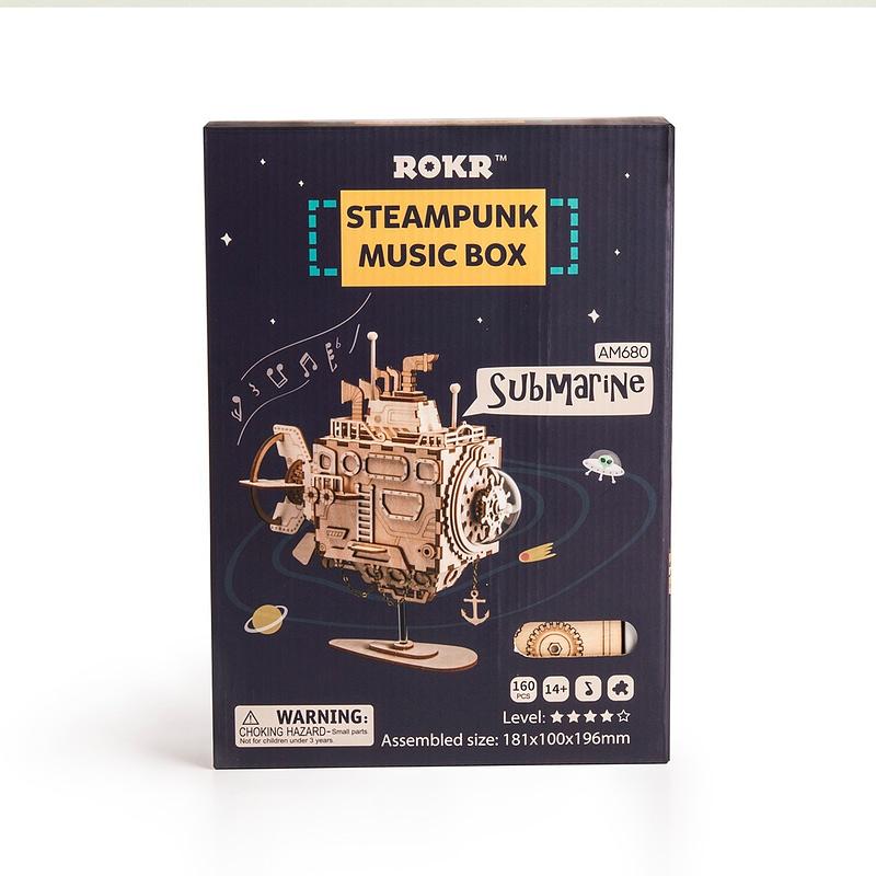 submarine steampunk music box 5