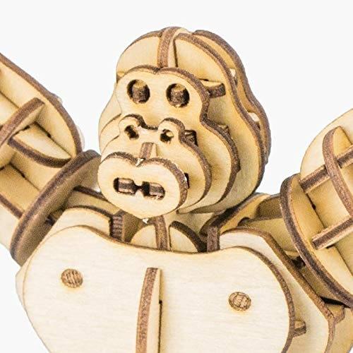 gorilla modern 3d wooden puzzle