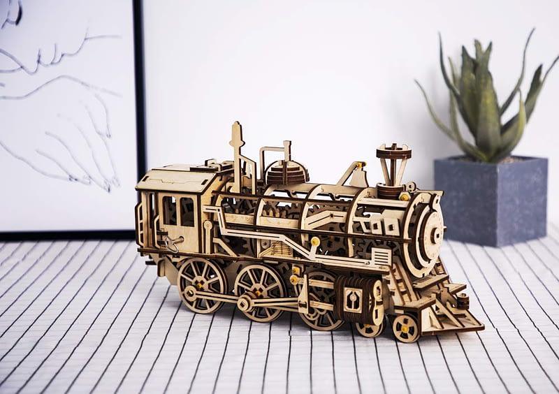 robotime locomotive movement assembled diy mechanical model 2