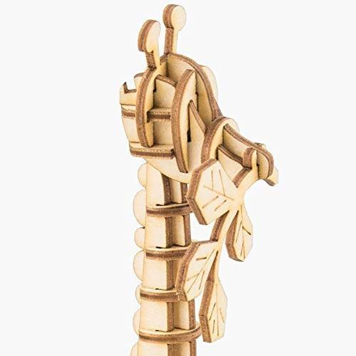 giraffe modern 3d wooden puzzle wild animals 3