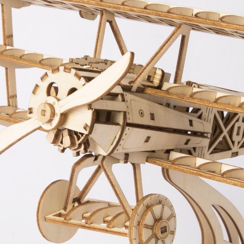 bi plane modern 3d wooden puzzle 2