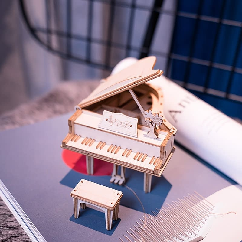 grand piano modern 3d wooden puzzle 3