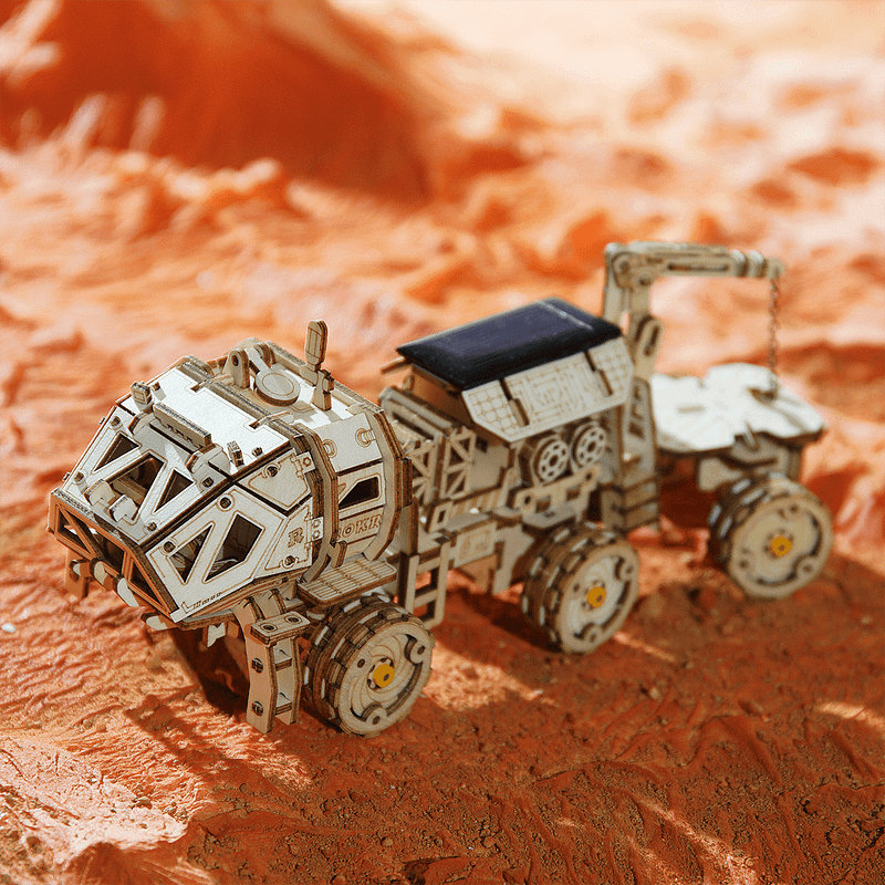 navitas rover 3d wooden puzzle movement assembled solar energy powered toys space hunting