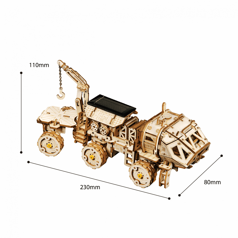 navitas rover 3d wooden puzzle movement assembled solar energy powered toys space hunting 2