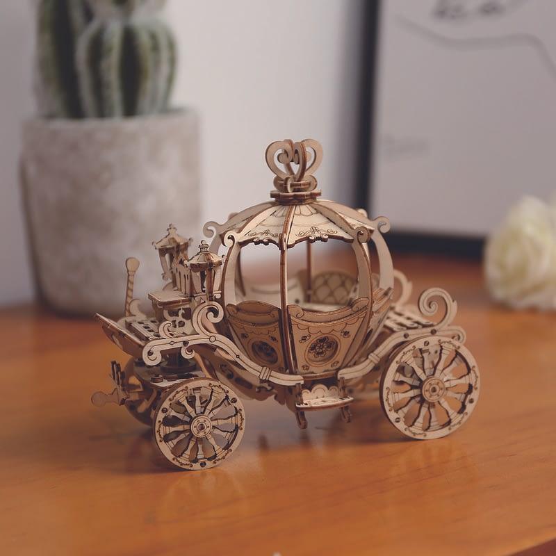 pumpkin cart modern 3d wooden puzzle 4