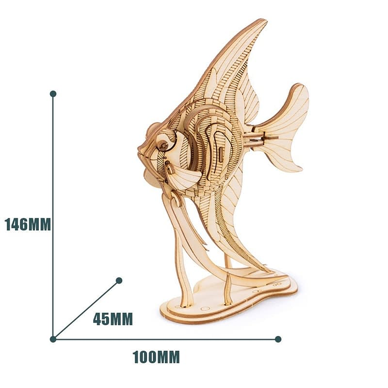 angel fish modern 3d wooden puzzle 3